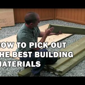 How to Build a Shed - How To Pick Out Good Quality Framing Lumber - Video 2 of 15