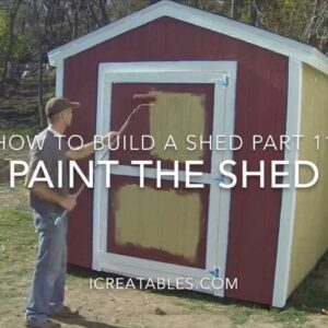 How To Build A Shed - Part 11 - How To Paint A Shed