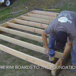 How To Build A Shed - Part 2 Floor Framing