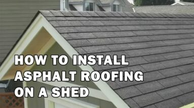 How To Install Asphalt Roofing Shingles on a Shed or Cabin - Shed Building Video 13 of 15