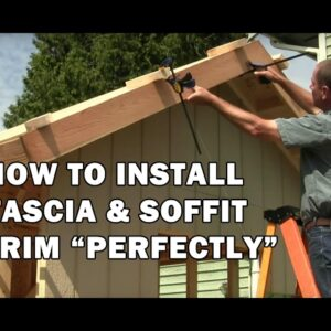How to Build a Shed - How To Install Fascia Boards & T&G Soffit Boards on The Shed - Video 11 of 15