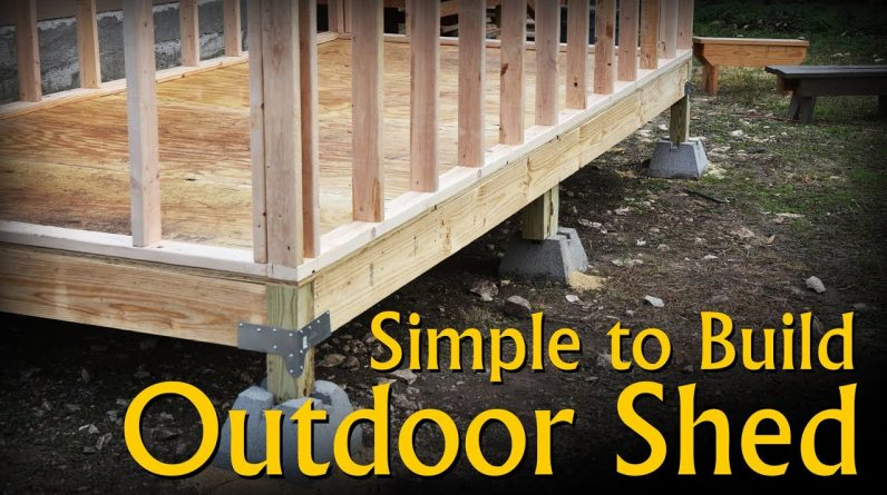 Build a Simple, Inexpensive, Outdoor Storage Shed with Basic Hand Power Tools.