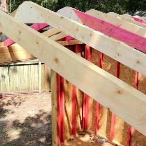 How to build a shed. (Cut and assemble Roof Rafters)| Paulstoolbox