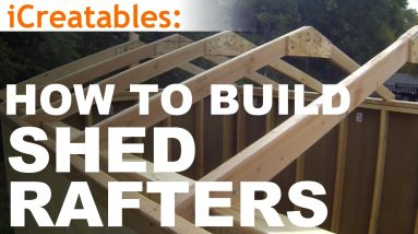 How To Build A Shed - Part 4 - Building Roof Rafters