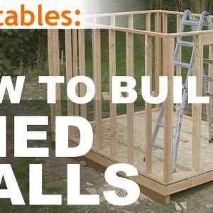 How To Build A Shed - Part 5 - Wall Framing