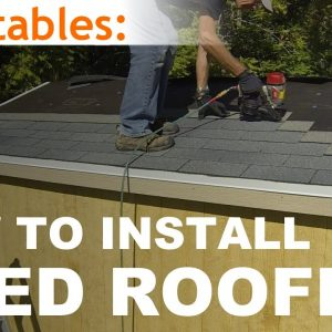 How To Build A Shed - Part 9 - Install Asphalt Shingles On Shed Roof