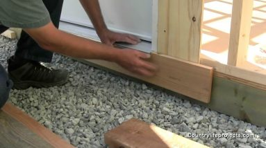 How To Install Skirting Trim For a Shed - Shed Building Video 7 of 15