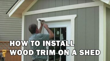How To Install Exterior Trim, Corners & DIY Drip Cap - Shed Building Video 15 of 15